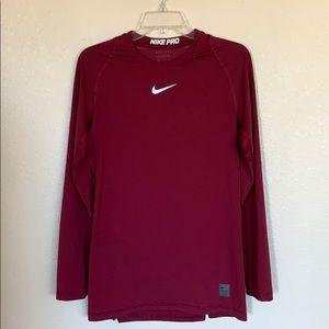 Nike Pro Long Sleeve Top Shirt Sports Practice Gym